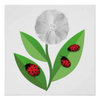 3 Ladybugs Poster