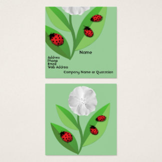 3 Ladybugs Square Business Card