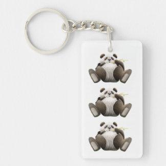 3 Lazy Pandas Acrylic Keychain