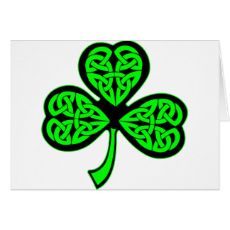 3 Leaf Celtic Shamrock Card