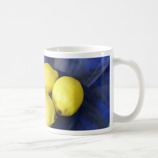 3 Lemons And Candlestick Basic White Mug