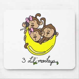 3 Li l Monkeys Tshirts and Gifts Mouse Pad