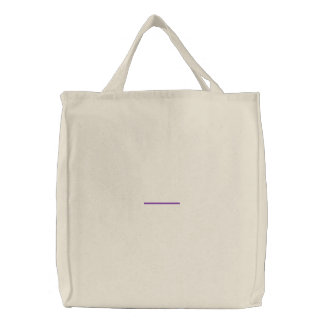 "3"" Line 1/8"" Thick Embroidered Tote Bag"
