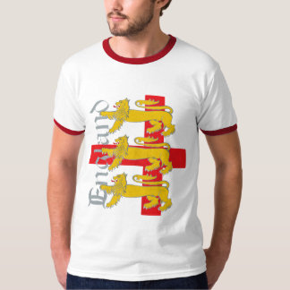 3 Lions on St George's Cross Shirts