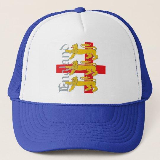 3 Lions on St George's Cross Trucker Hat