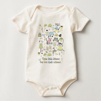 3 Little Kittens Organic Baby Bodysuit