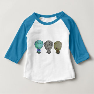 3 Little Monsters Baby T-Shirt
