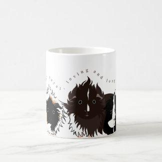 3 long haired piggies basic white mug