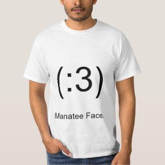 (:3), Manatee Face. T-Shirt