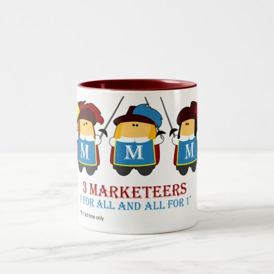 3 Marketeers mug