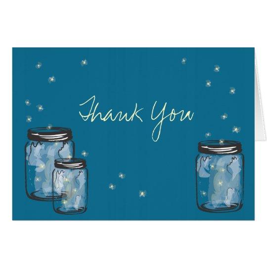 3 Mason Jars with Fireflies Card