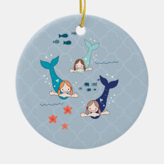 3 Mermaids Christmas Ornament