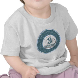 3 Months Coastal Milestone Shirts