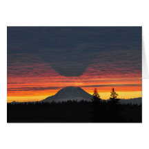 #3 Mount Rainier and its Shadow Cards