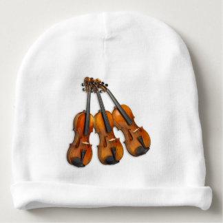 3 MUSICAL VIOLINS BABY BEANIE