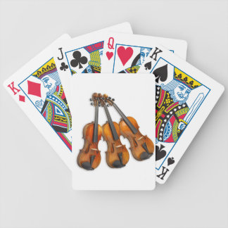 3 MUSICAL VIOLINS BICYCLE PLAYING CARDS