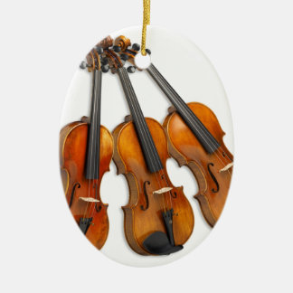 3 MUSICAL VIOLINS CHRISTMAS ORNAMENT