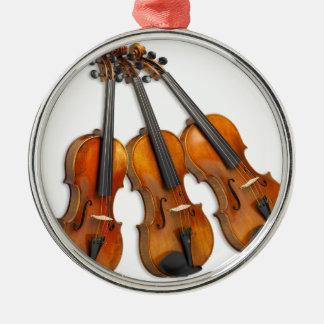 3 MUSICAL VIOLINS CHRISTMAS ORNAMENT