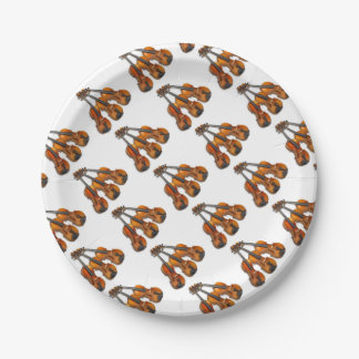 3 MUSICAL VIOLINS PAPER PLATE