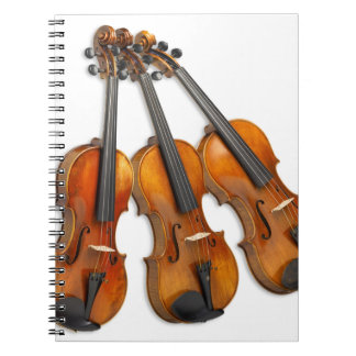 3 MUSICAL VIOLINS SPIRAL NOTEBOOK