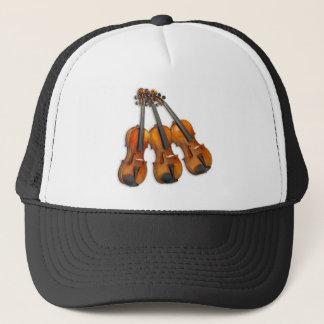 3 MUSICAL VIOLINS TRUCKER HAT
