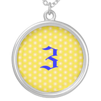 3,NUMBER, LETTER ON HONEYCOMB PENDANTS
