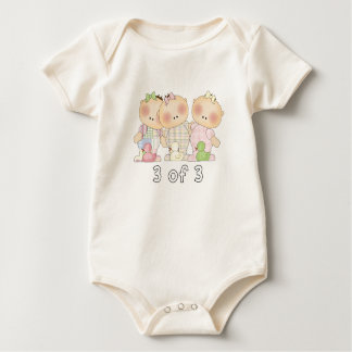 3 of 3 Triplet Cuties Baby Bodysuit