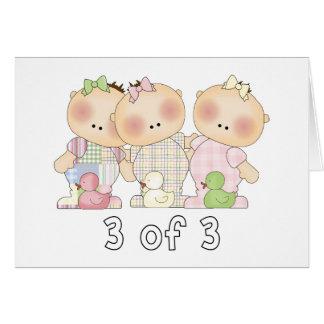 3 of 3 Triplet Cuties Greeting Card