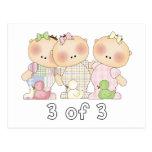3 of 3 Triplet Cuties Postcard