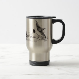 3 Orcas Playing Travel Mug