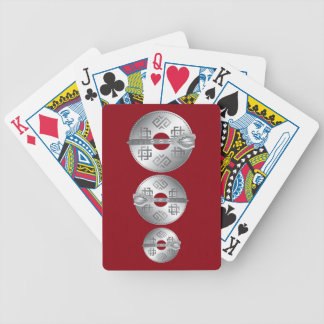 3 ouch bicycle playing cards
