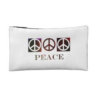 3 peace symbols in reverse blocks ruby design makeup bag