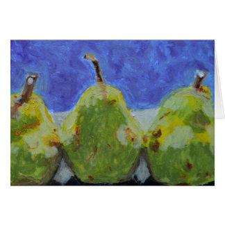 3 Pears Card