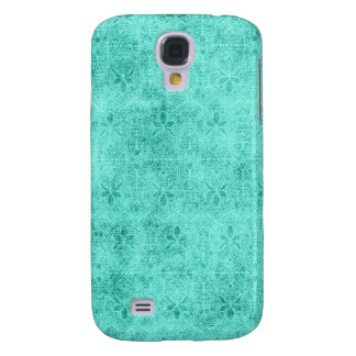 3 - Pern Vintage Damask Blue Samsung Galaxy S4 Cover