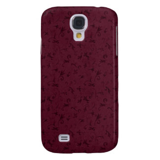 3 Pern Vintage Swirl Burgundy Galaxy S4 Case