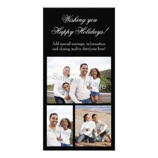 3-Photo Collage Holiday Customised Photo Card