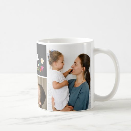 3 Photo | Country Flowers Coffee Mug