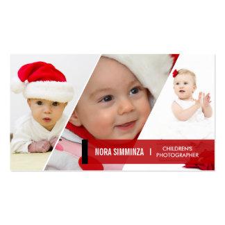 3 Photo Diagonal Business Cards