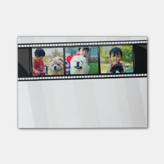 3-Photo film strip personalized photo sticky notes