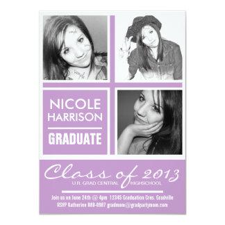 3 Photos African Violet Purple  2013 Grad  Party 11 Cm X 16 Cm Invitation Card