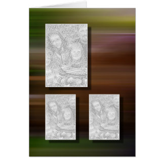 3 Picture Keepsake Photo Template Greeting Card