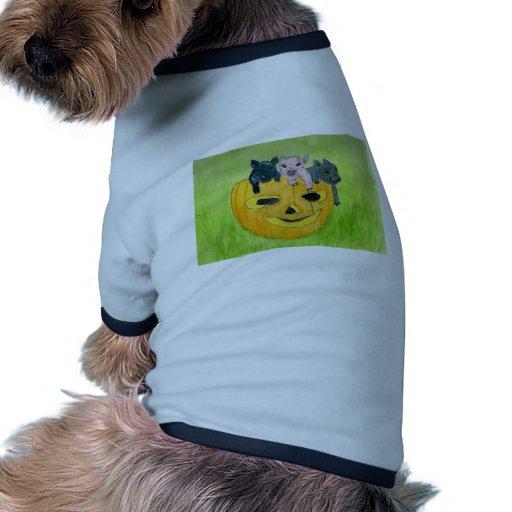 3 Pigs in a Pumpkin Dog T Shirt