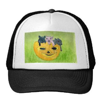 3 Pigs in a Pumpkin Mesh Hats