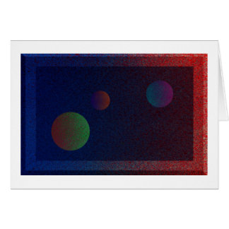 3 Planets Greeting Card