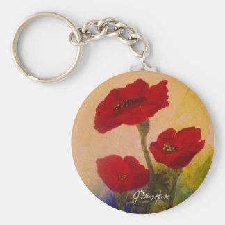3 Poppies Key Ring