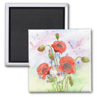3 Poppies Magnet