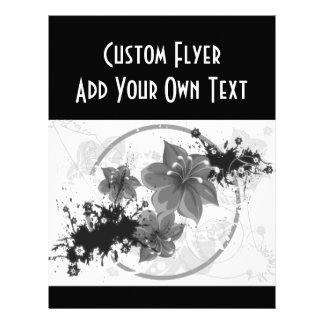 3 Pretty Flowers - B&W Infrared Flyer Design