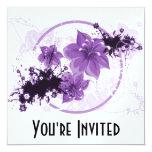 3 Pretty Flowers - Purple