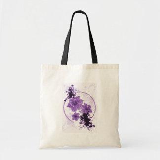 3 Pretty Flowers - Purple Budget Tote Bag