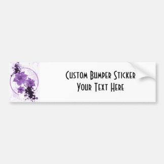 3 Pretty Flowers - Purple Bumper Sticker
